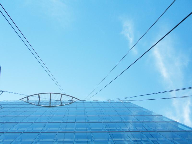 výškové práce - pohľad na budovu